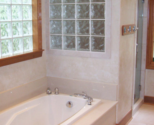 front bath - before