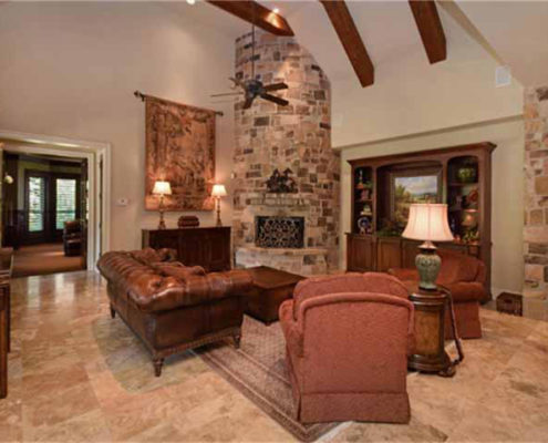 great room (round fireplace)