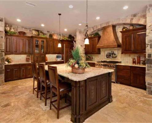 kitchen (copper vent hood)